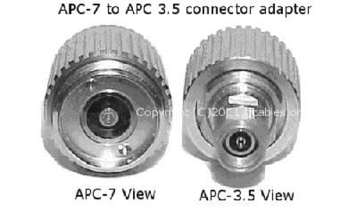APC-7 to APC 3.5 connector adapter
