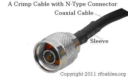 Crimp Cable with N-Type Connector